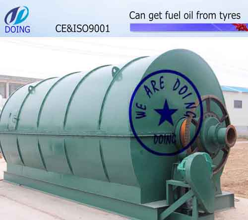 Convert waste tyre into fuel oil plant
