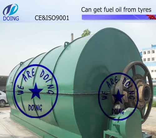 Convert tyre to oil recycling pyrolysis plant