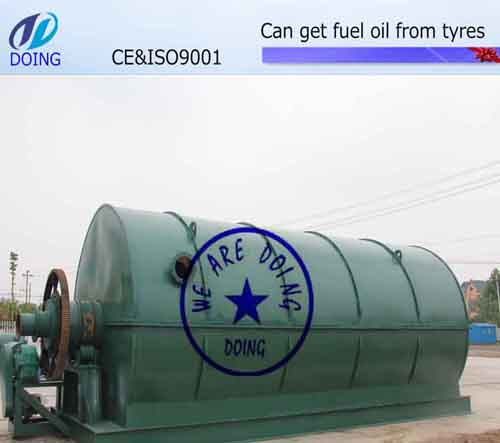 Used tyre pyrolysis machine DY-1-10