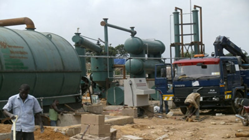 Waste tyre to fuel oi  pyrolysis plant in Nigeria
