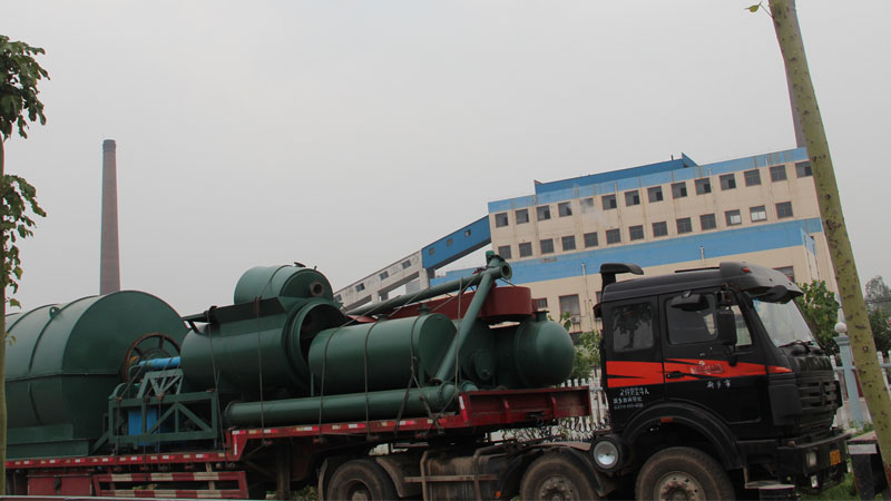 Waste tyre to oil pyrolysis  plant in Iran in Asia