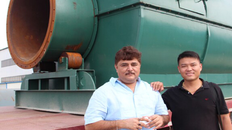Waste tyre to fuel oil pyrolysis plant in India