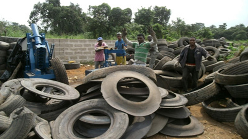 waste tyre pyrolysis plant in Nigeria