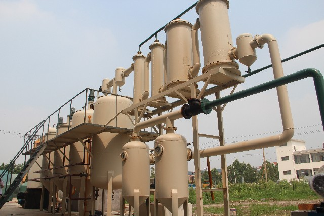 Waste engine oil refining equipment