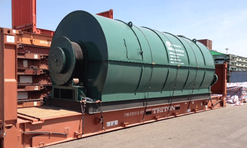 Supplier of scrap tire to oil machine