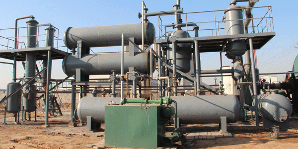 Vaccuum system of pyrolysis plant