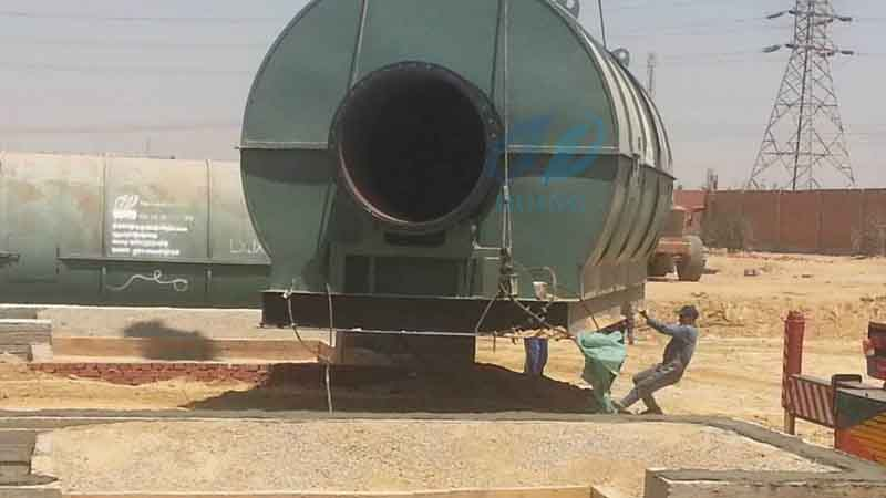 2 sets 10tons waste plastic pyrolysis plants Installation in Egypt