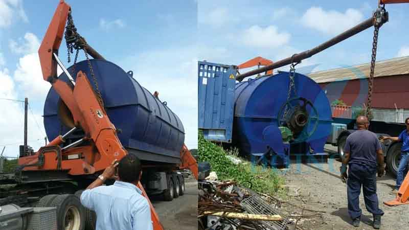 Aruba waste tyre to oil pyrolysis plant