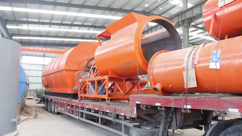 The 22th waste tyre to oil recycling  pyrolysis plant will delivered to Mexico