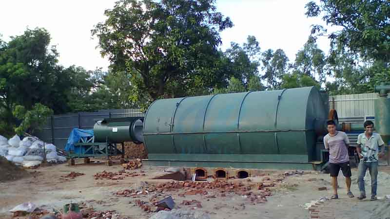 10t,Waste tyre/plastic recycling pyrolysis plant project in