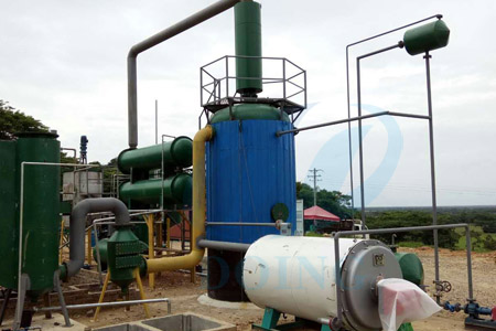 Used tyre oil to diesel fuel oil refining plant