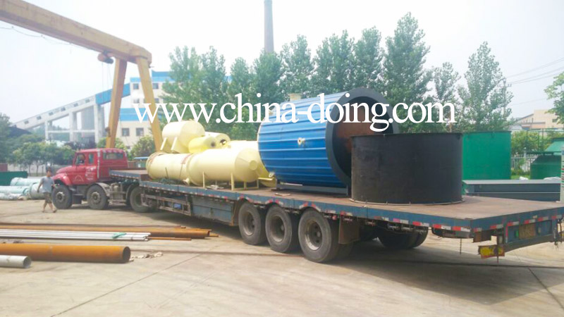 Waste oil to diesel distillation plant delivery to Palestine