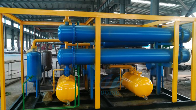 The waste rubber tyre pyrolysis plant will delivery to Tunisia