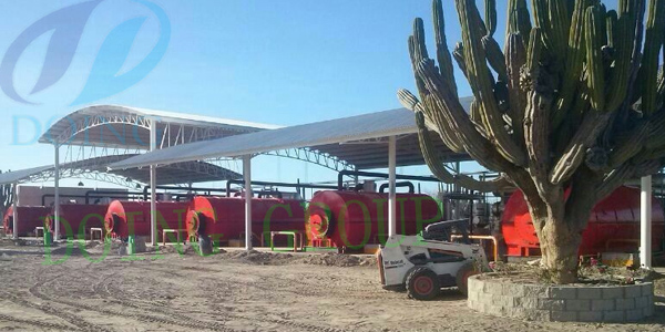 Mexico 10 sets waste tyre recycling to fuel oil pyrolysis plant was processing waste tyre video