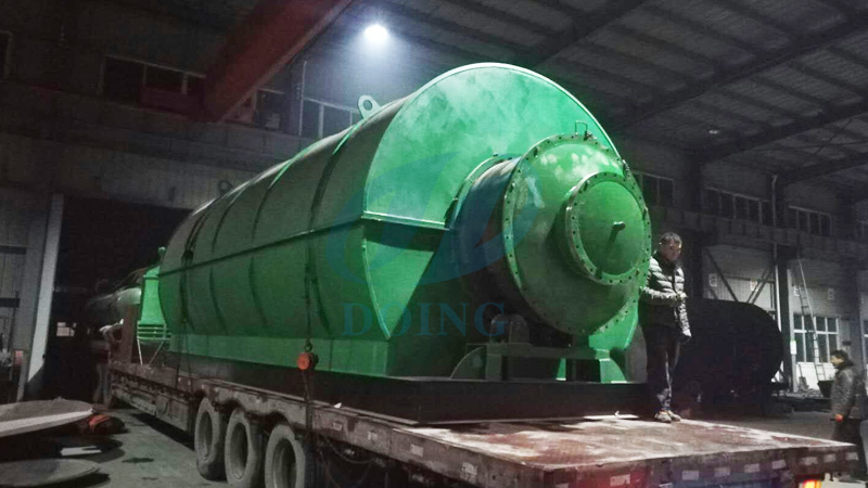 10T waste plastic recycling pyrolysis plant for Indian customer finished delivery