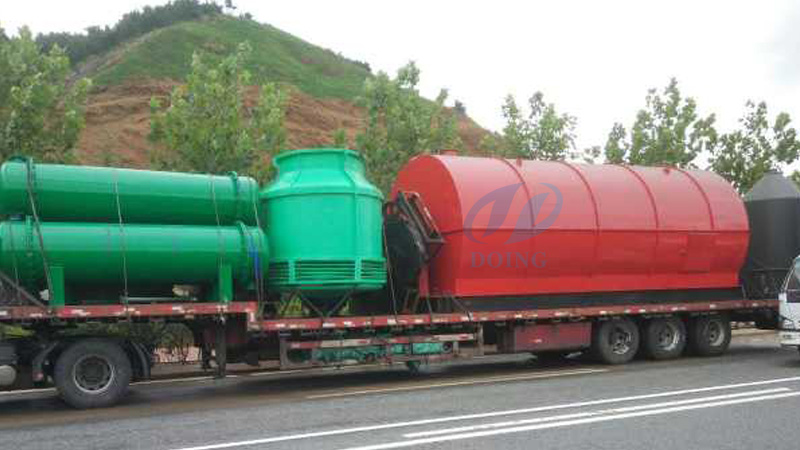 10T waste tire to fuel oil pyrolysis plant will be delivery to Egypt customer