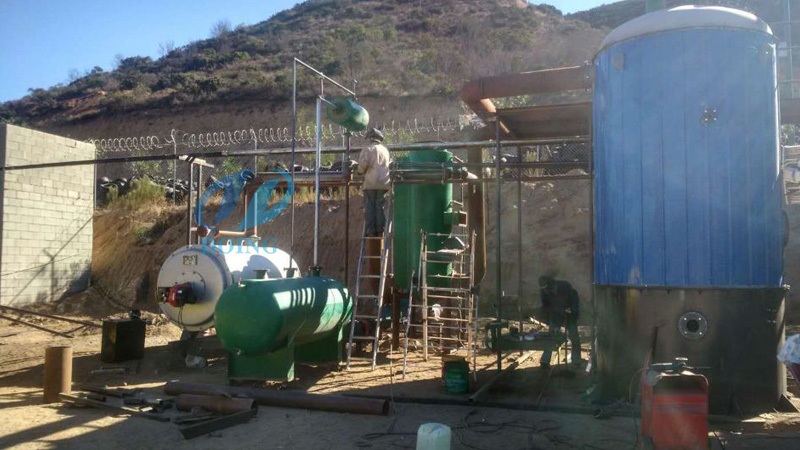 10T convert waste oil to diesel machine will be delivery to Tijuana, Mexico