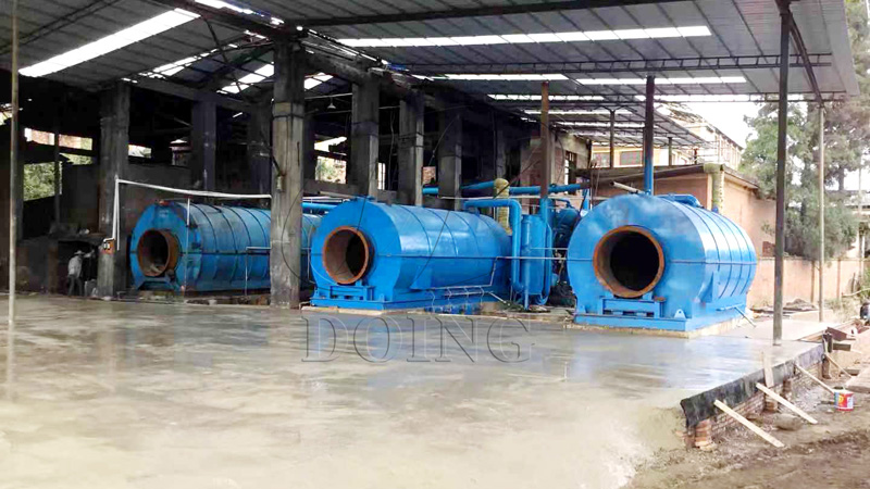 2 sets waste plastic pyrolysis plants installed in Yunnan, China