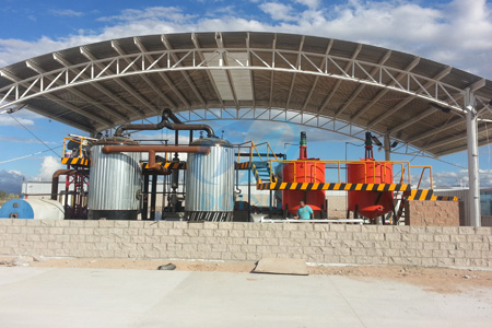 Waste oil to diesel distillation plant