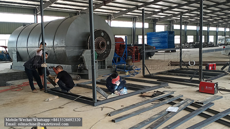 40TPD waste tyre pyrolysis machine project in South Africa