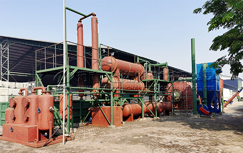 Crude oil sludge treatment plant
