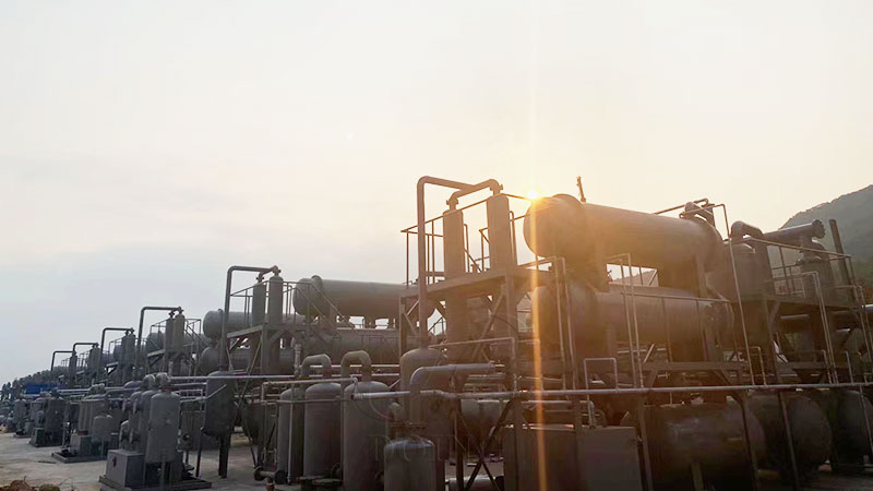 tyre to fuel oil plant