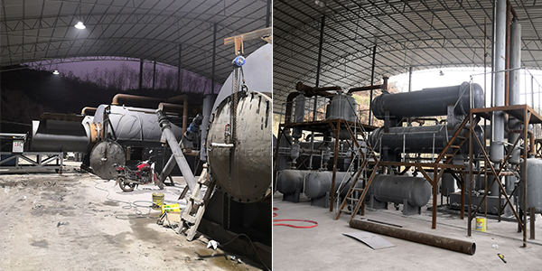 3sets of tyre pyrolysis machine project in Australia