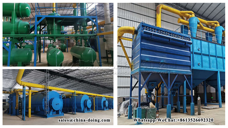 6 sets Waste Tyre Pyrolysis Plant installed in China