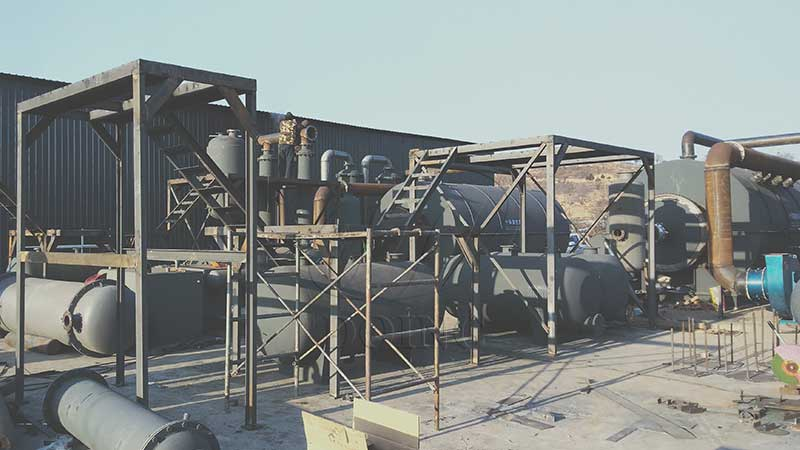 Two more 12TPD waste tire pyrolysis plant project in China