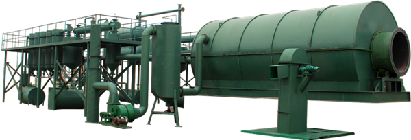 Waste tyre pyrolysis plant with auto-feeder