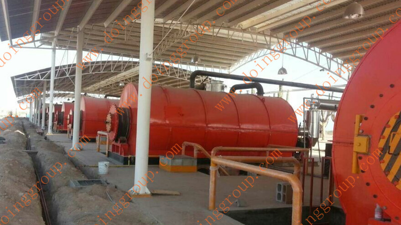 the running pyrolysis plant in mexico