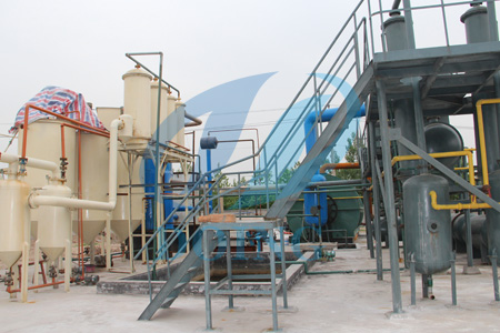 Mini motor oil recycling refinery plant