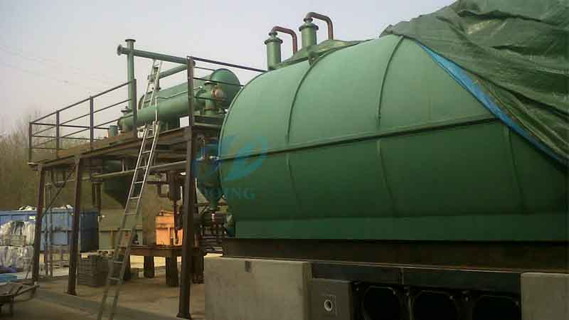 plastic to oil plant
