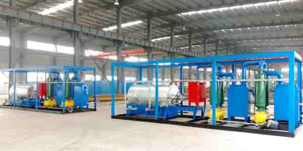 Small scale waste plastic pyrolysis plant delivered to Italy