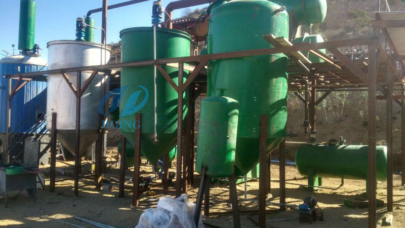 convert waste oil to diesel